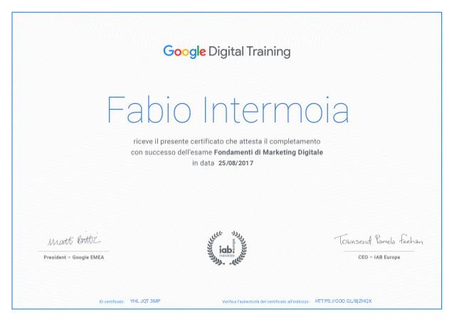 Certificato di Marketing Digitale