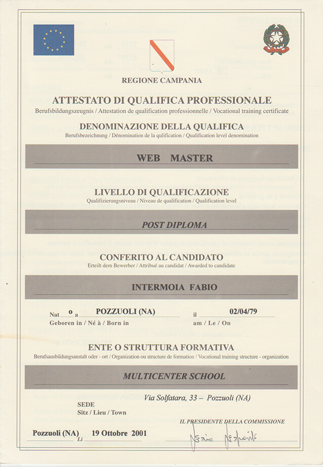 Web Master Napoli